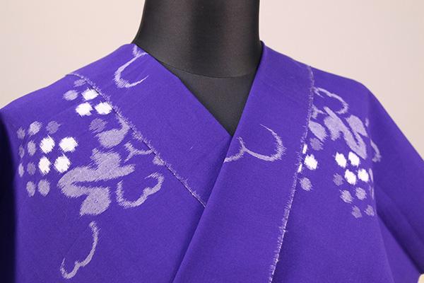 久留米絣 木綿着物 オーダーお仕立て付き 普段着きもの 葡萄 紫◆女性にオススメ◆