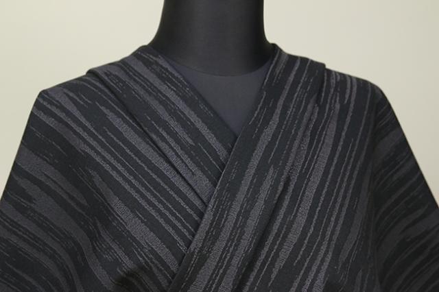Kimono Factory nono 木綿着物 オーダーお仕立て付き GRITTER(グリッター)シェード 黒
