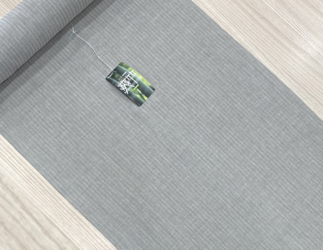 東レ爽竹 長襦袢 オーダー仕立付 淡い緑灰 男女兼用