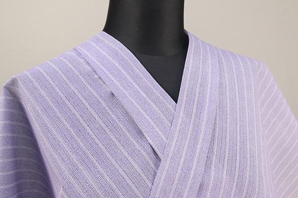 夏着物・浴衣(ゆかた) 超長綿 オーダー仕立て付き 鮫小紋 灰紫 ◆男女兼用◆