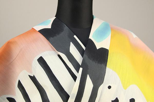 ツモリチサト浴衣(ゆかた) オーダー仕立て付き 抽象柄 カラフル 男女兼用