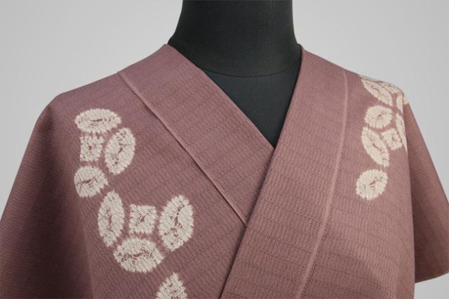 【受注生産品】京都 藤井絞 はごろ木綿 オーダー仕立て付き 洗える普段着着物 しっぽう巻 赤