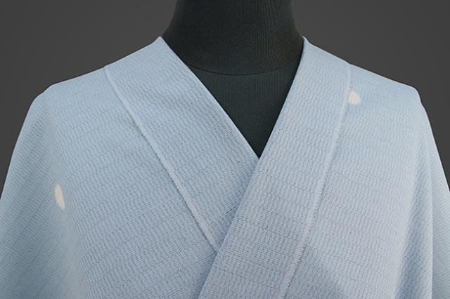 【受注生産品】京都 藤井絞 はごろ木綿 オーダー仕立て付き 洗える普段着着物 ホタル 水色