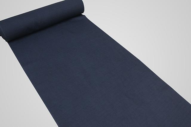 【受注生産品】京都 藤井絞 はごろ木綿 広幅 オーダー仕立て付き 洗える普段着着物 無地 紺