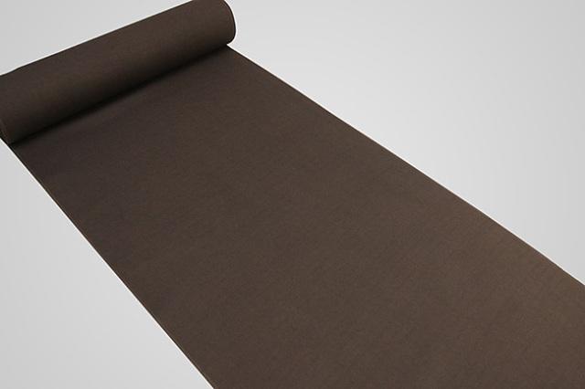 【受注生産品】京都 藤井絞 はごろ木綿 広幅 オーダー仕立て付き 洗える普段着着物 無地 茶