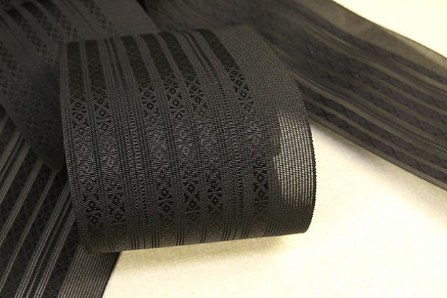 西村織物 博多織 透きとおる伊達締め かすみ 黒