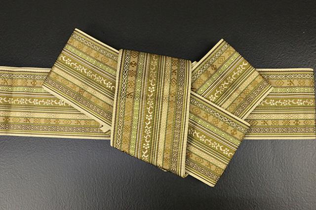 博多織 西村織物 角帯 正絹 朱子浮2 黄