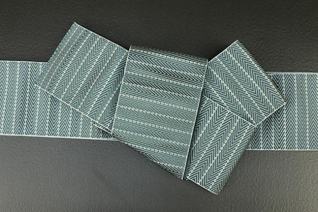 博多織 西村織物 角帯 正絹 総浮 ミント