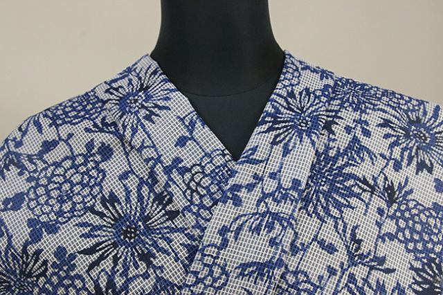 絹紅梅 正藍染め オーダー仕立て付き 衣草紙  紺 女性にオススメ