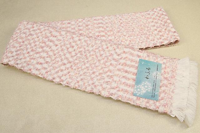 近賢織物 半幅帯 わふる 薄ピンク