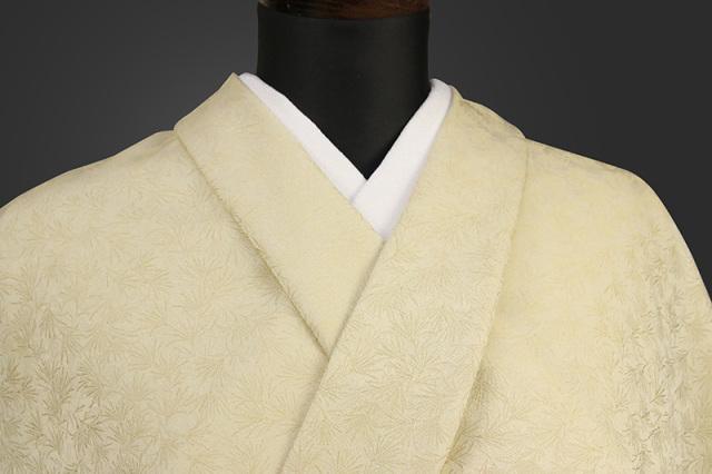 ワタマサ 洗える正絹お召し着尺 オーダー仕立て付 L_01_薄黄