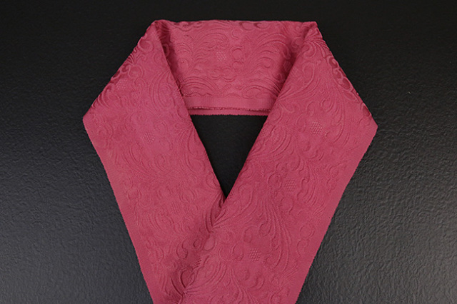 【先行予約】ワタマサ×山勝染工 オリジナル正絹半衿 ローズ
