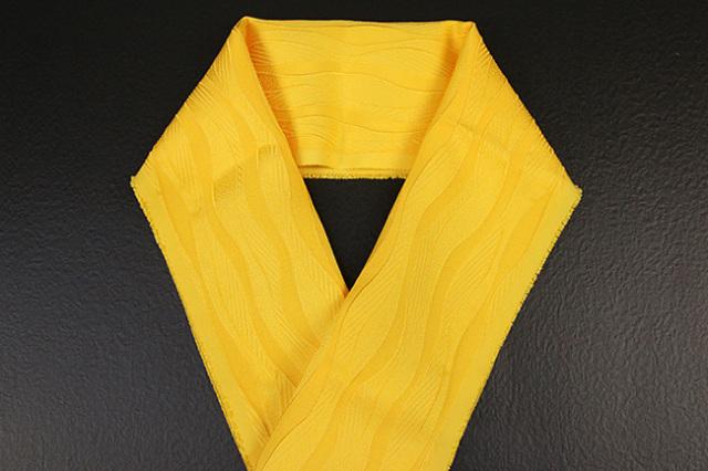 【先行予約】ワタマサ×山勝染工 オリジナル正絹半衿 サンフラワー