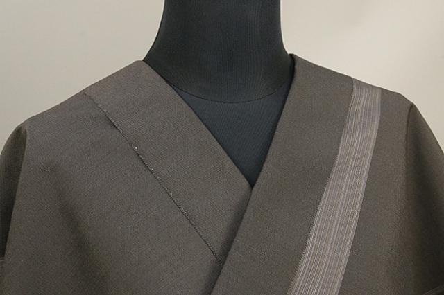 米沢紬 竹股織物 縞 茶灰 反物価格
