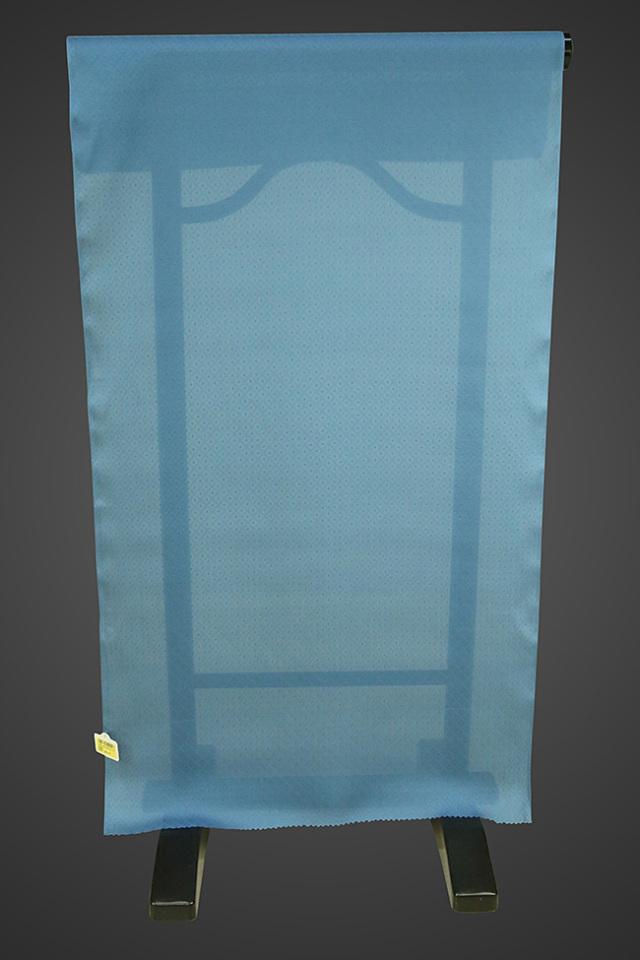 【ワケあり】京都浅見謹製 広巾夏紗長襦袢 オーダーお仕立付き 菱上布 絹100% ブルー