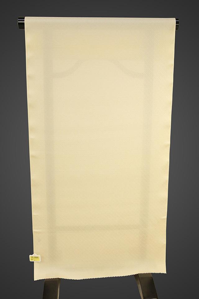 【ワケあり】京都浅見謹製 並巾夏紗長襦袢 オーダーお仕立付き 菱上布 絹100% クリーム
