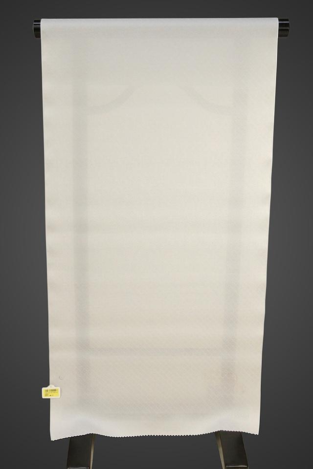【ワケあり】京都浅見謹製 並巾夏紗長襦袢 オーダーお仕立付き 菱上布 絹100% ライトグレー