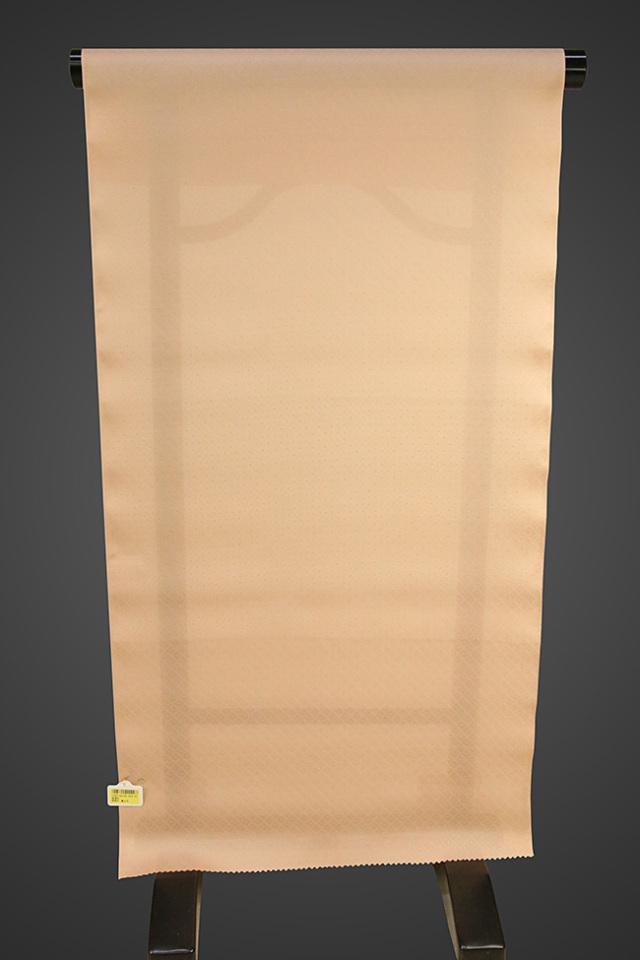 【ワケあり】京都浅見謹製 並巾夏紗長襦袢 オーダーお仕立付き 菱上布 絹100% ピンクベージュ