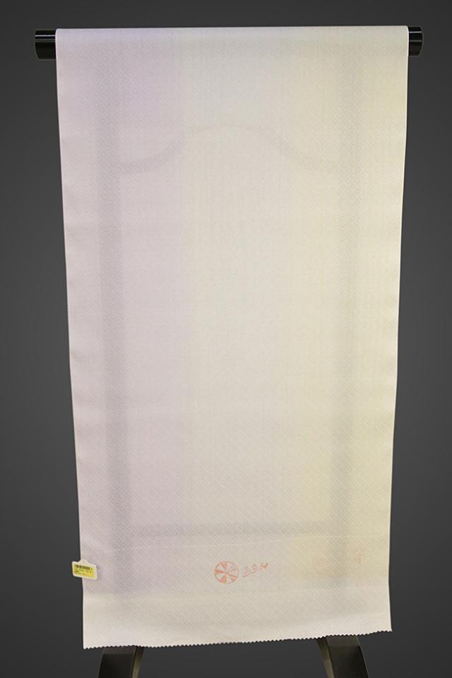 京都浅見謹製 並巾夏紗長襦袢 オーダーお仕立付き 菱上布 絹100% 雨すだれ グレー