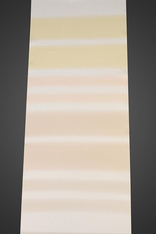 【ワケあり】京都浅見謹製 並巾夏紗長襦袢 オーダーお仕立付き 菱上布 絹100% 夏空 クリーム