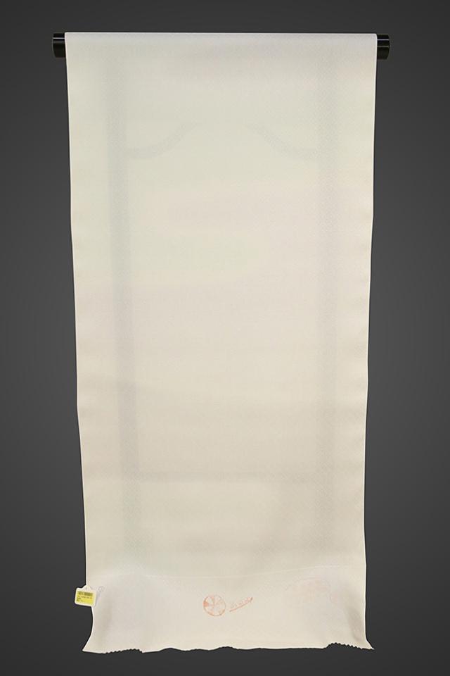 京都浅見謹製 並巾夏紗長襦袢 オーダーお仕立付き 菱上布 絹100% 雪渓 ブルー