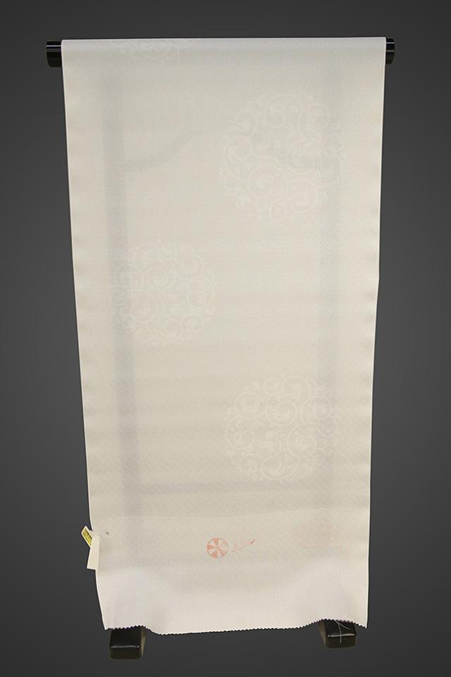 京都浅見謹製 並巾夏紗長襦袢 オーダーお仕立付き 菱上布 絹100% 昌慶 鼠