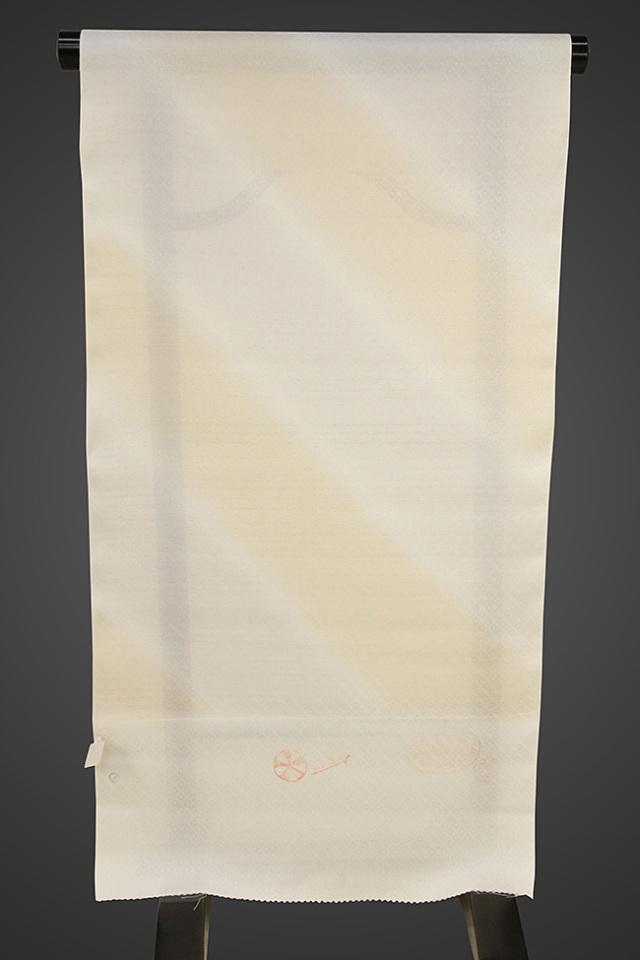 京都浅見謹製 並巾夏紗長襦袢 オーダーお仕立付き 菱上布 絹100% 涼み グレー