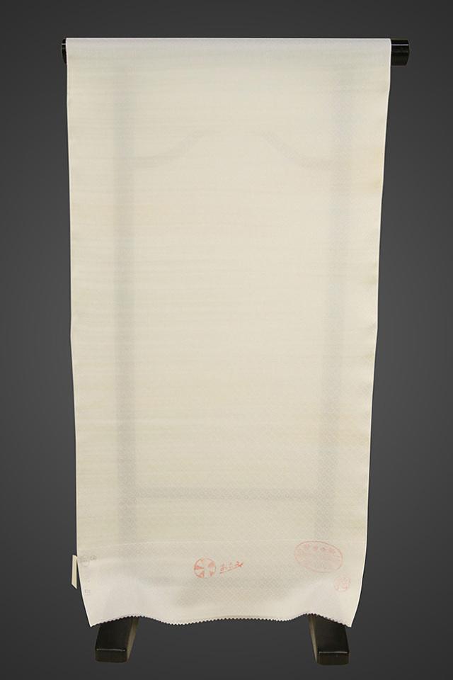京都浅見謹製 並巾夏紗長襦袢 オーダーお仕立付き 菱上布 絹100% 竹すだれ 緑