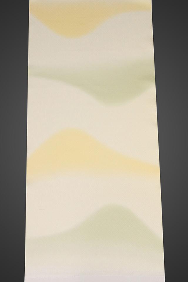【ワケあり】京都浅見謹製 並巾夏紗長襦袢 オーダーお仕立付き 菱上布 絹100% 遠山 クリーム