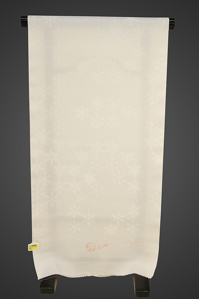 京都浅見謹製 並巾夏紗長襦袢 オーダーお仕立付き 菱上布 絹100% 雪の華 白