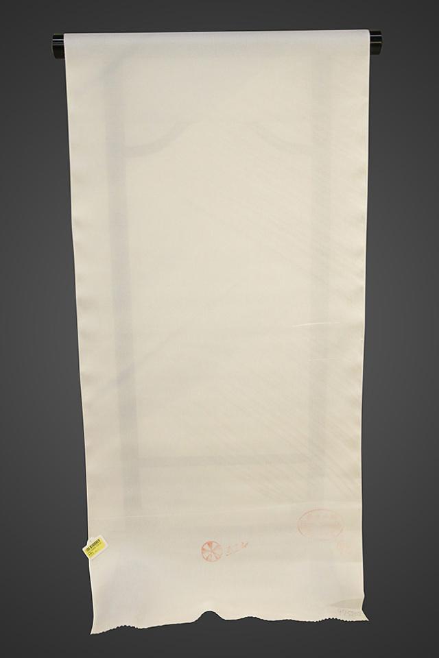 京都浅見謹製 並巾夏紗長襦袢 オーダーお仕立付き 王上布 絹100% しっぷう グレー