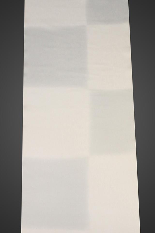 【ワケあり】京都浅見謹製 並巾夏紗長襦袢 オーダーお仕立付き 王上布 絹100% 飛石 グレー