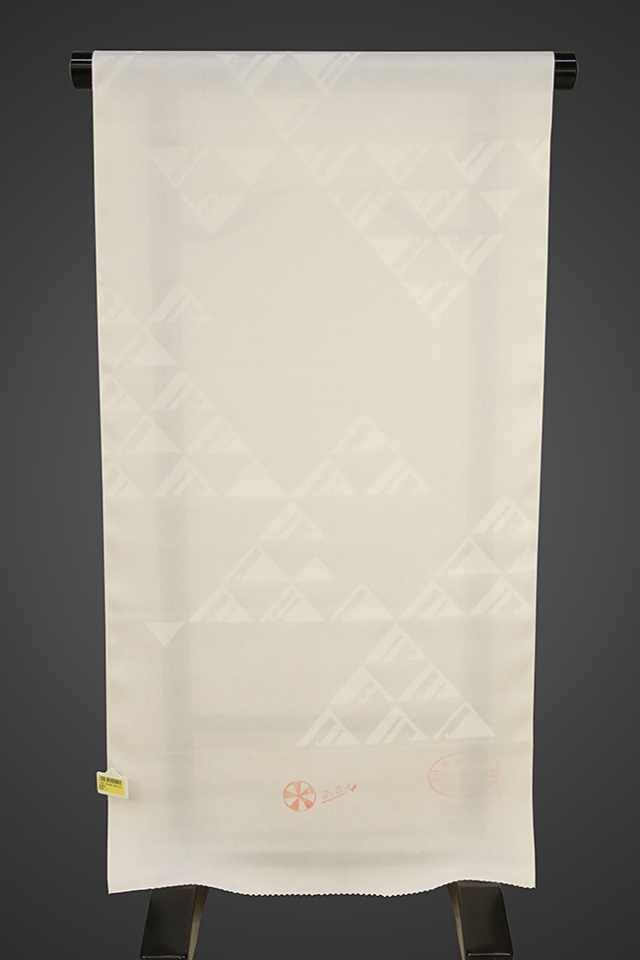 京都浅見謹製 並巾夏紗長襦袢 オーダーお仕立付き 王上布 絹100% 遊波 白