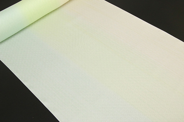 京都浅見謹製 並巾夏紗長襦袢 オーダーお仕立付き 菱上布 絹100% 雨すだれ グリーン