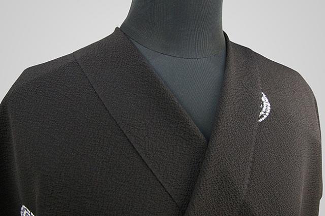 京都 藤井絞 正絹着尺 反物価格 縮緬地 波紋 黒