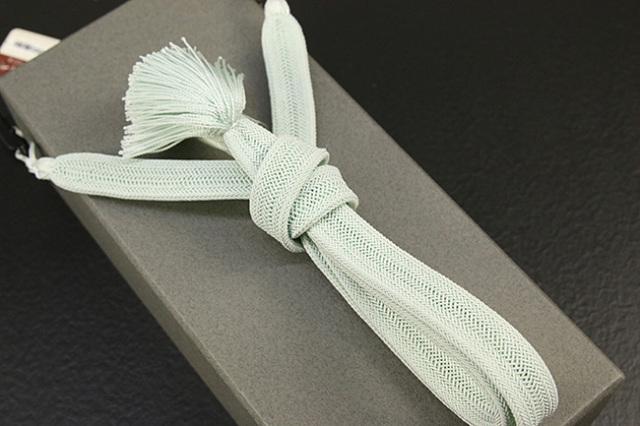 和小物さくら 男性用羽織紐 平組 正絹 直付けタイプ 組紐 ミント