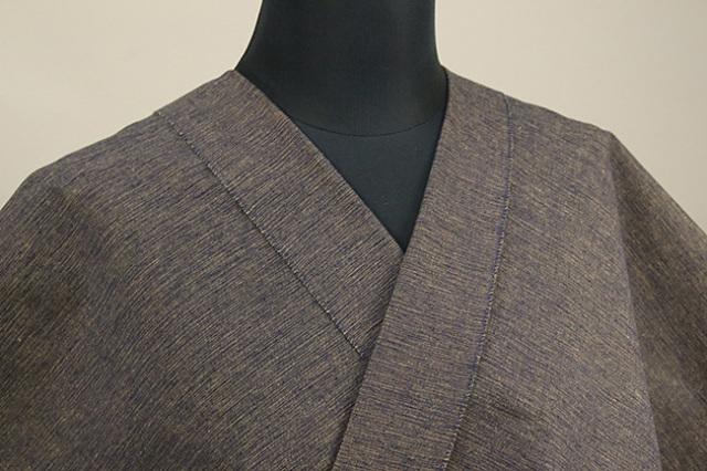 三河木綿 オーダーお仕立付き 洗える普段着着物  中厚地 かすみ 紺×黒×黄 No.48-18 ◆男女兼用◆