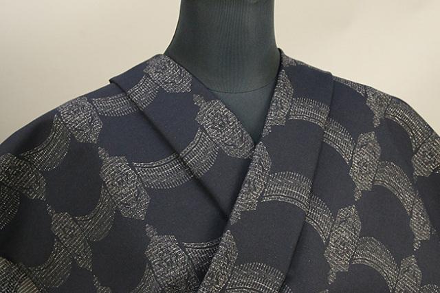 Kimono Factory nono 木綿着物 オーダーお仕立て付き GRITTER(グリッター)ゲート 黒