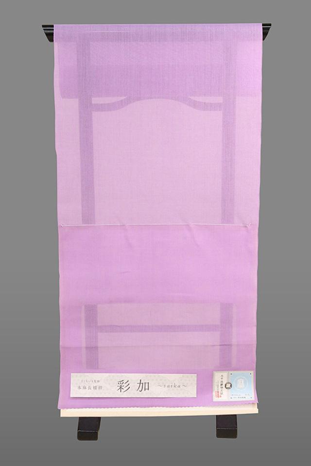 【先行予約商品】 きくちいま監修 本麻長襦袢 彩加(さいか)2021 オーダー仕立て付き C紫(たて糸が紫) バリエーション5色 男女兼用
