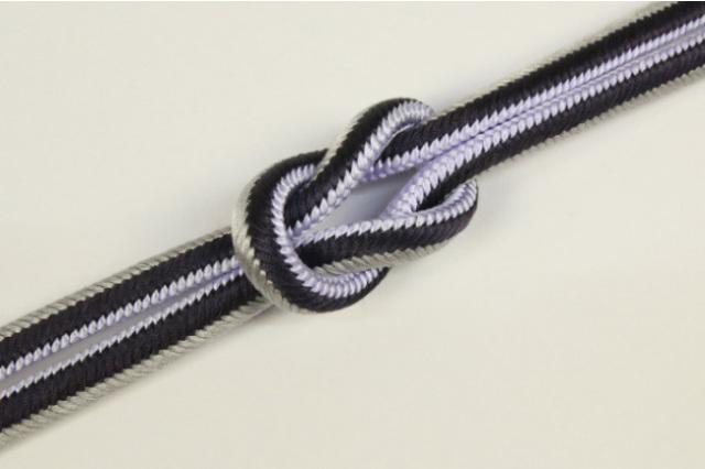 和小物さくら 帯締め 正絹 両面リバーシブル 05薄紫×黒×灰