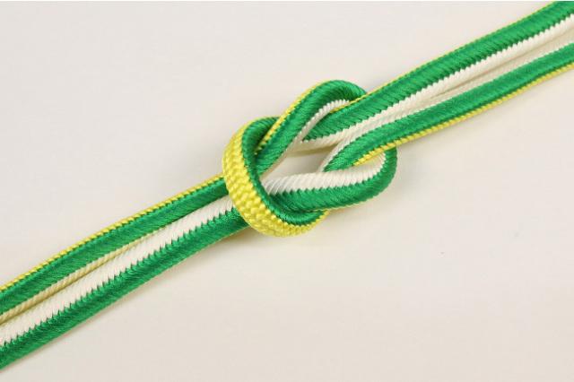 和小物さくら 帯締め 正絹 両面リバーシブル 11黄×緑×白