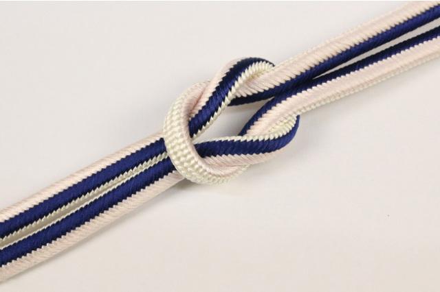和小物さくら 帯締め 正絹 両面リバーシブル 14アイボリー×紺×薄桃