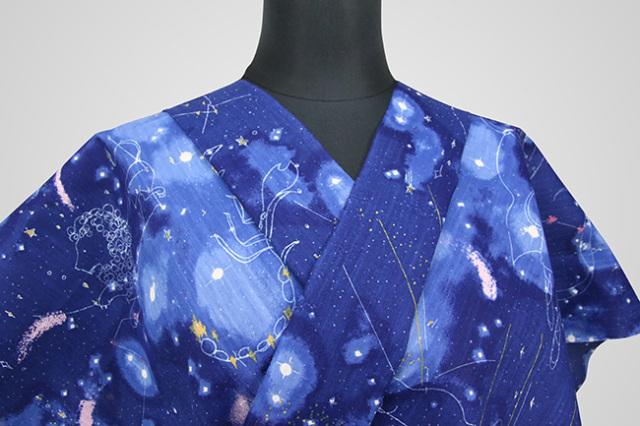 オーダー仕立て付き 浴衣(ゆかた) tsumori chisato 星座 青