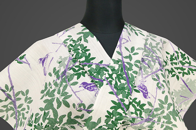Kimono Factory nono 浴衣(ゆかた) 綿麻 オーダー仕立て付き 浴衣 ルリカケス 白 ◆男女兼用◆