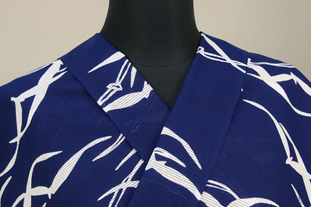 IKS浴衣(ゆかた) オーダー仕立て付き 注染 蒼 紺 女性にオススメ