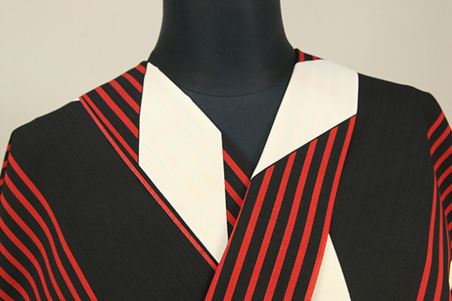 JUNKO KOSHINO浴衣(ゆかた) オーダー仕立て付き セオα 楽 赤×黒