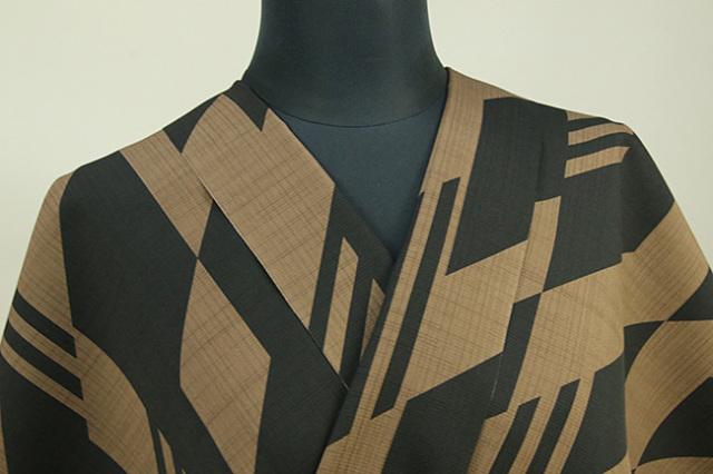 JUNKO KOSHINO浴衣(ゆかた) オーダー仕立て付き セオα 隼 茶×黒
