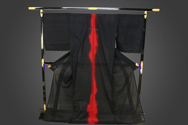 誉田屋源兵衛 浴衣(ゆかた) オーダー仕立て付き 赤光 背 赤×黒 ◆男女兼用◆