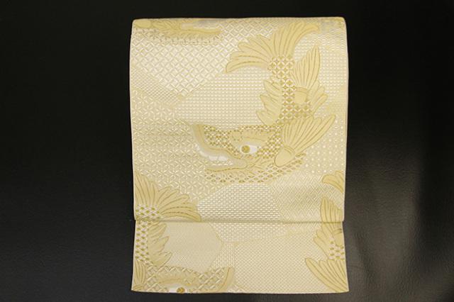 【受注商品】あづまやオリジナル 西村織物 博多八寸名古屋帯 金鯱 ゴールド お仕立て付き
