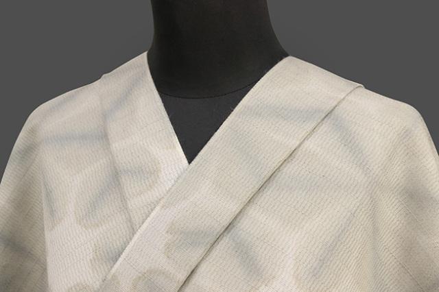 京都 藤井絞 はごろ木綿 オーダー仕立て付き 洗える普段着着物 雪花絞 灰色